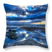 Morro Strand Reflections Throw Pillow