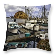 Morro Sunrise Throw Pillow