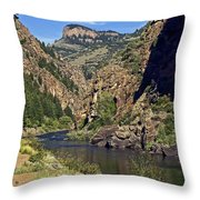 Morrow Point Reservoir Throw Pillow