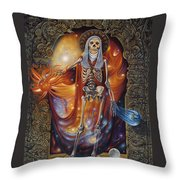 Mors Santi Throw Pillow