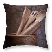 Mortar And Pestle Still Life II Throw Pillow