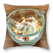 Mortar And Pestle With Drugs Throw Pillow