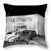 Mortimers Dining  Dancing Marina California  Circa 1948 Throw Pillow