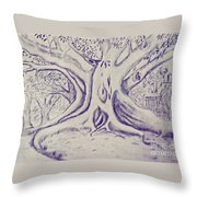 Morton Bay Tree Throw Pillow