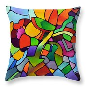 Mosaic Bouquet Throw Pillow