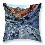 Mosaic Canyon In Death Valley Throw Pillow