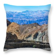 Mosaic Canyon Picnic Throw Pillow