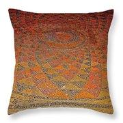 Mosaic Floor In Bergama Museum-turkey Throw Pillow
