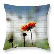 Mosaic Flower Throw Pillow