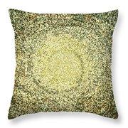 Mosaic Galaxy In Gold Throw Pillow
