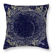 Mosaic Galaxy Midnight Blue Throw Pillow