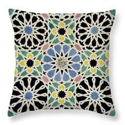 Mosaic Pavement In The Dressing Room Of The Sultana Throw Pillow