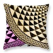 Mosaic Quarter Circle Bottom Left  Throw Pillow