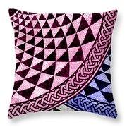 Mosaic Quarter Circle Bottom Right  Throw Pillow
