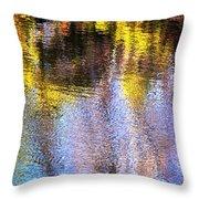 Mosaic Reflection At The River Throw Pillow