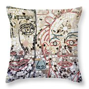 Mosaic Tiles On South Street Throw Pillow