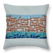 Mosaic Village 2 Throw Pillow