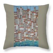 Mosaic Village 3 Throw Pillow