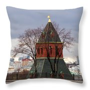 Moscow As Viewed From The Kremlin - Square Throw Pillow
