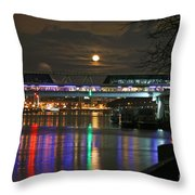 Moscow At Night In Winter Throw Pillow