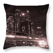 Moscow At Night Throw Pillow