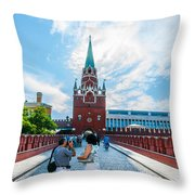 Moscow Kremlin Tour - 03 Of 70 Throw Pillow