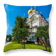Moscow Kremlin Tour - 51 Of 70 Throw Pillow