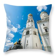 Moscow Kremlin Tour - 66 Of 70 Throw Pillow