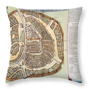 Moscow: Map, 1662 Throw Pillow