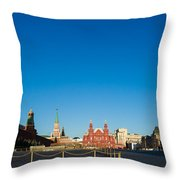 Moscow Red Square From South-east To North-west Throw Pillow
