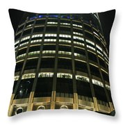 Moscow Skyscraper Night Throw Pillow