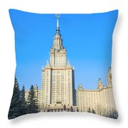 Moscow State University Throw Pillow