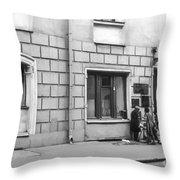 Moscow Street Vendor 2 Throw Pillow