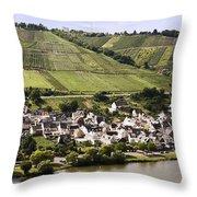 Mosel Wine Village Throw Pillow