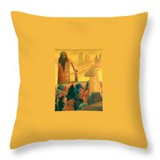 Moses And The Masks Throw Pillow