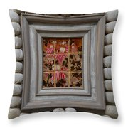 Moses And The Quail - Framed Throw Pillow