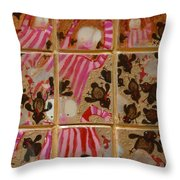 Moses And The Quail Throw Pillow