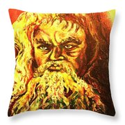 Moses At The Burning Bush Throw Pillow