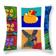 Moses Collage Throw Pillow