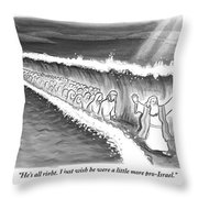 Moses Parting The Sea Throw Pillow