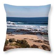 Moses Rock Beach 01 Throw Pillow