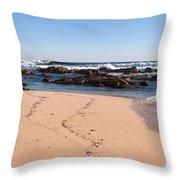Moses Rock Beach 02 Throw Pillow