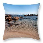 Moses Rock Beach 03 Throw Pillow