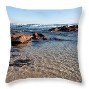 Moses Rock Beach 04 Throw Pillow