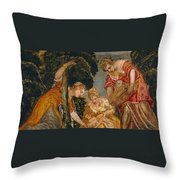 Moses Saved From The Waters Throw Pillow