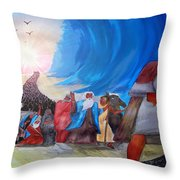 Moses Through The Red Sea Throw Pillow