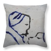 Moses - Tile Throw Pillow