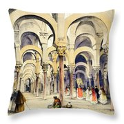 Mosque At Cordoba, From Sketches Throw Pillow