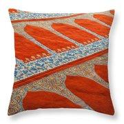 Mosque Carpet Throw Pillow
