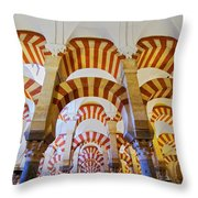 Mosque-cathedral In Cordoba Throw Pillow